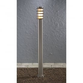 Trento Single Light Low Energy Stainless Steel Outdoor Post