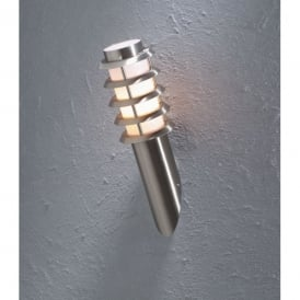 Trento Single Light Low Energy Wall Fitting in Stainless Steel