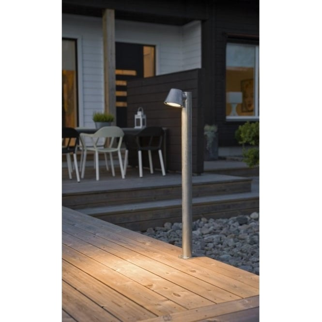 Konstsmide trieste single light halogen outdoor post light in trieste single light halogen outdoor post light in anthracite finish mozeypictures Image collections