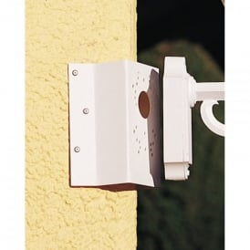 Konstsmide Universal Corner Bracket in Matt White Finish