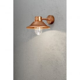 Vega High Power LED Outdoor Wall Fitting in Copper Finish