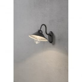 Vega High Powered Dimmable LED Outdoor Wall Fitting in Black Finish