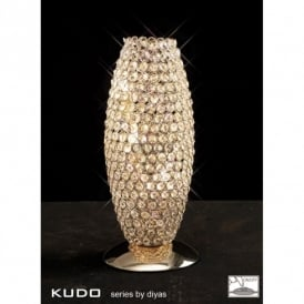 Kos 3 Light Crystal Table Lamp with French Gold Finish