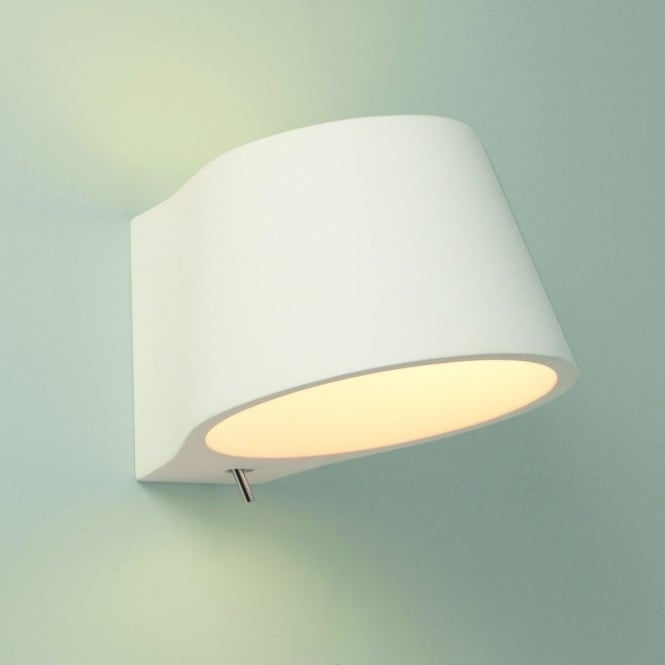 Contemporary Switched Wall Lights : Astro Lighting Koza Single Light Switched Ceramic Wall Fitting - Lighting Type from Castlegate ...