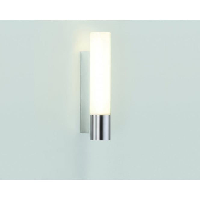 Astro Lighting Kyoto 260 Single Light Low Energy Bathroom Wall Fitting In Satin Chrome Finish