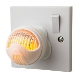 LED Adjustable Night Light In White Finish With Amber Light