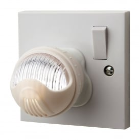 LED Adjustable Night Light In White Finish With White Light