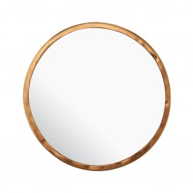 Leyburn Round Mirror in Hammered Bronze Effect Finish