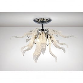 Lily 6 Light Semi Flush Ceiling Fitting In Polished Chrome Finish