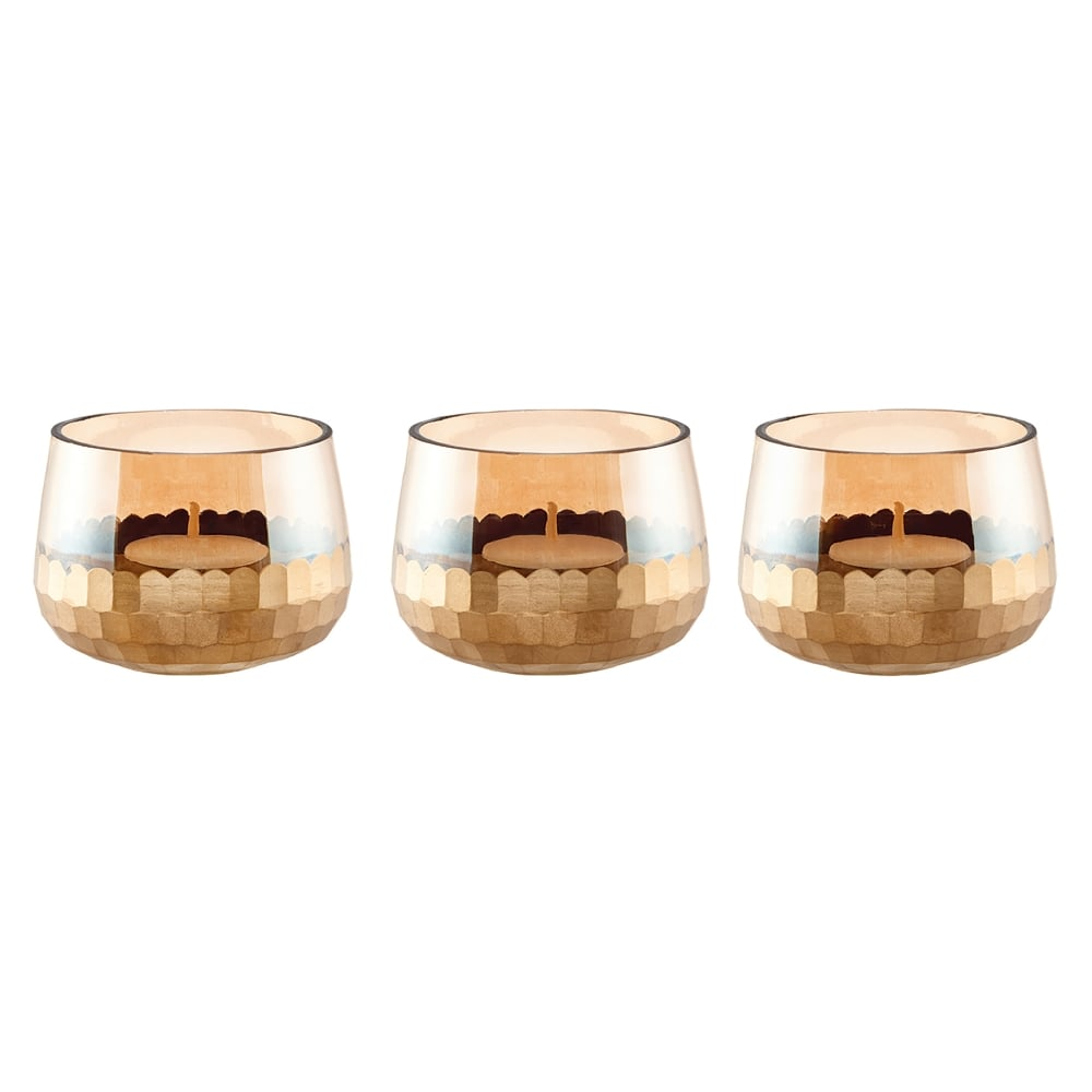 Endon Lighting Lima Set Of 3 Small Tealight Holders In