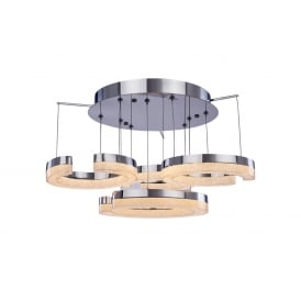 Link 4 Light LED Semi Flush Ceiling Fitting in Polished Chrome