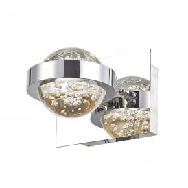 Livia Single Light LED Wall Fitting In Polished Chrome Finish