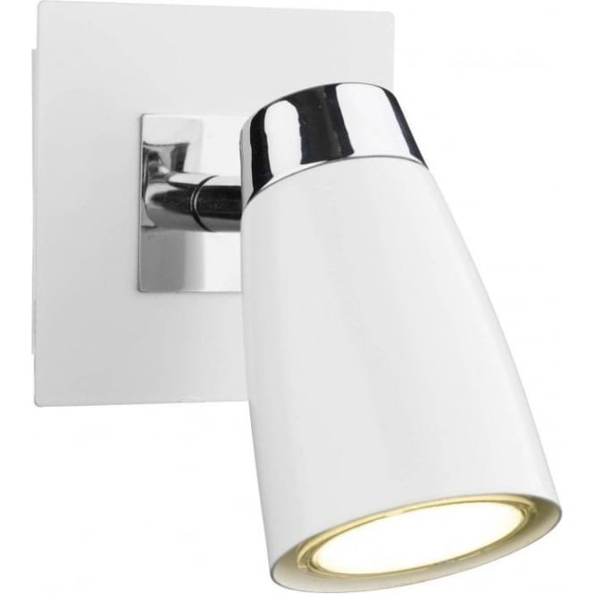 Dar Lighting Loft Low Energy Switched Single White Spot Light