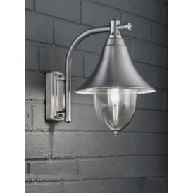 Lorenz Single Light Outdoor Wall Fitting In Stainless Steel Finish With Clear Acrylic Diffuser