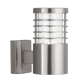 Lourve Single Light Outdoor Wall Fitting In Stainless Steel Finish