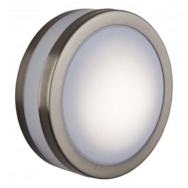 Low Energy Bulkhead Single Light in Stainless Steel Finish with Polycarbonate Diffuser