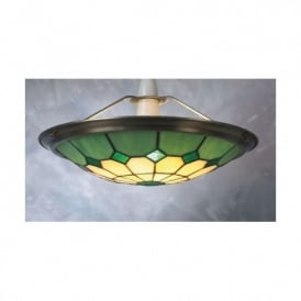 Bistro Ceiling Light Uplighter Shade In Red, Amber, Green and Blue
