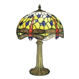 Green Dragonfly Tiffany Table Lamp