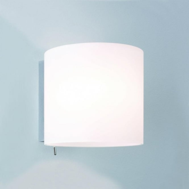 Astro Lighting Luga Switched Single Light Wall Fitting with White Glass Shade