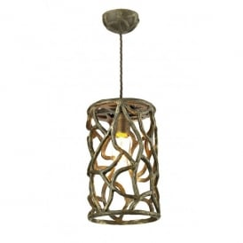 Lyra Single Light Ceiling Pendant in Gold Cocoa Finish