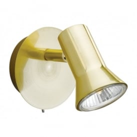 Magnum Single Switched Spot Light Fitting in Brushed Brass Finish