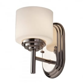Malibu Single Light Bathroom Wall Fitting in Polished Chrome Finish