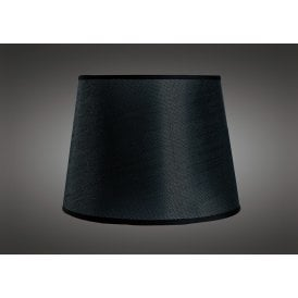 15cm High Round Small Tapered Shade in Black Woven Fabric