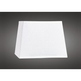 15cm High Small Square Shade in White Woven Fabric