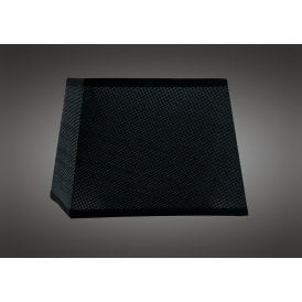 15cm High Small Square Tapered Shade in Black Woven Fabric