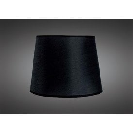 16.5cm High Tapered Round Shade in Black Woven Fabric