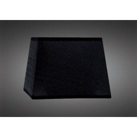 16.5cm High Tapered Square Shade in Black Woven Fabric