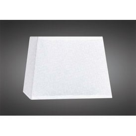 16.5cm High Tapered Square Shade in White Woven Fabric
