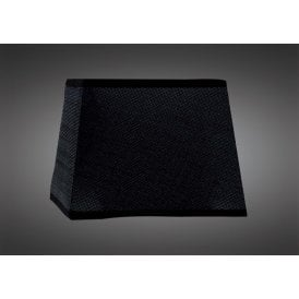 25cm High Square Tapered Shade in Black Woven Fabric
