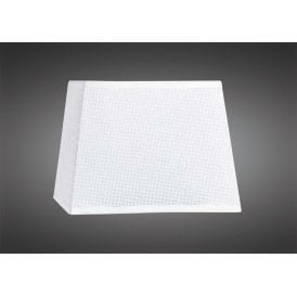 25cm High Square Tapered Shade in White Woven Fabric