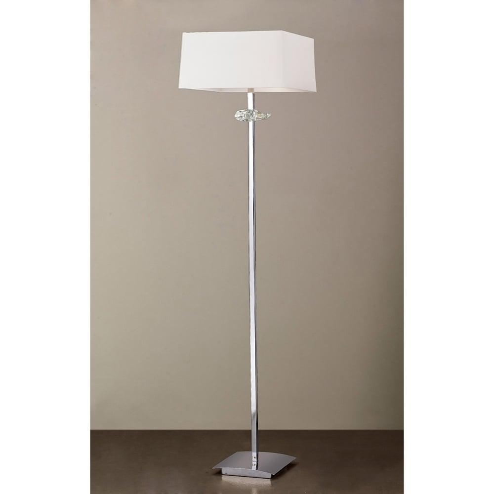 Mantra akira 3 light low energy floor lamp in polished for Mantra 5 light floor lamp