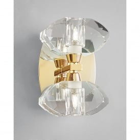 Alfa 2 Light Switched Wall Fitting in French Gold Finish