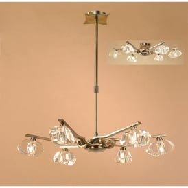 Alfa 6 Light Ceiling Pendant in Antique Brass Finish
