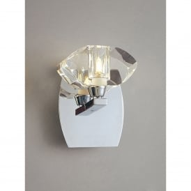 Alfa Single Light Switched Wall Fitting in Polished Chrome Finish