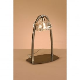 Alfa Single Light Table Lamp in Antique Brass Finish