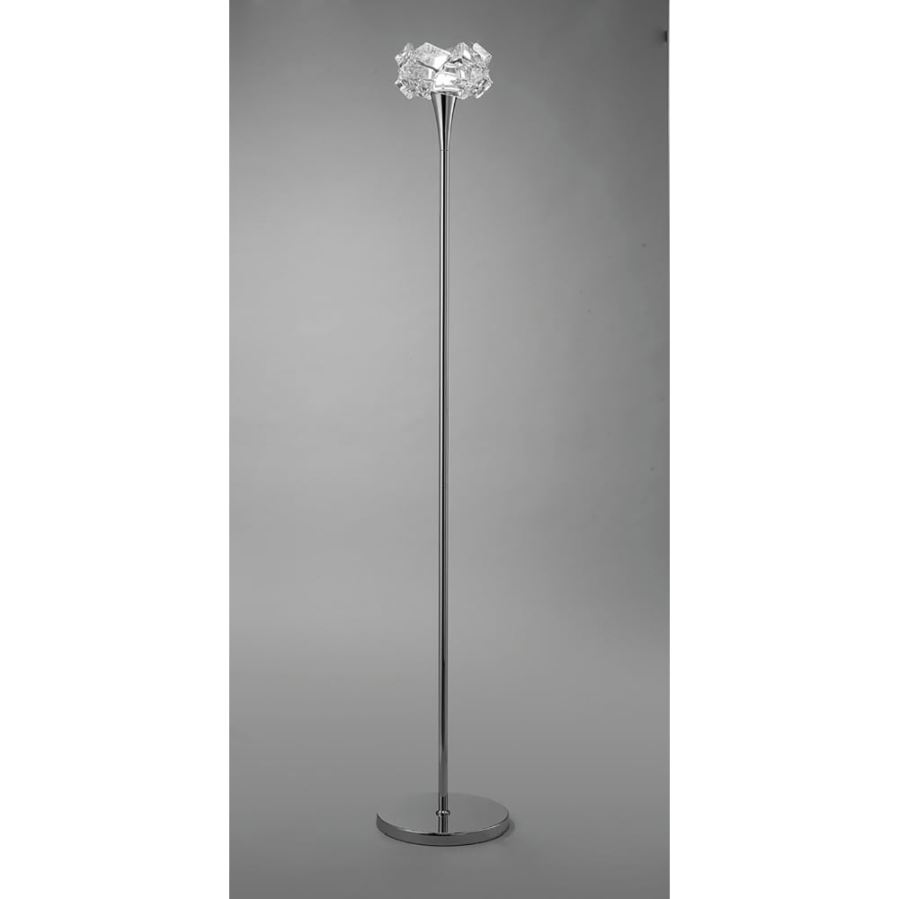 Mantra artic single light low energy floor lamp in polished chrome artic single light low energy floor lamp in polished chrome finish with crystal glass mozeypictures Gallery