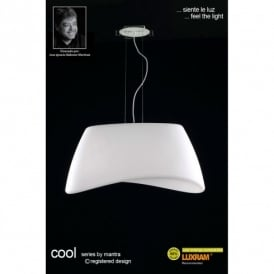 Cool 2 Light Low Energy Indoor Ceiling Pendant in White