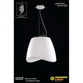 Cool 3 Light Low Energy Outdoor Ceiling Pendant in White