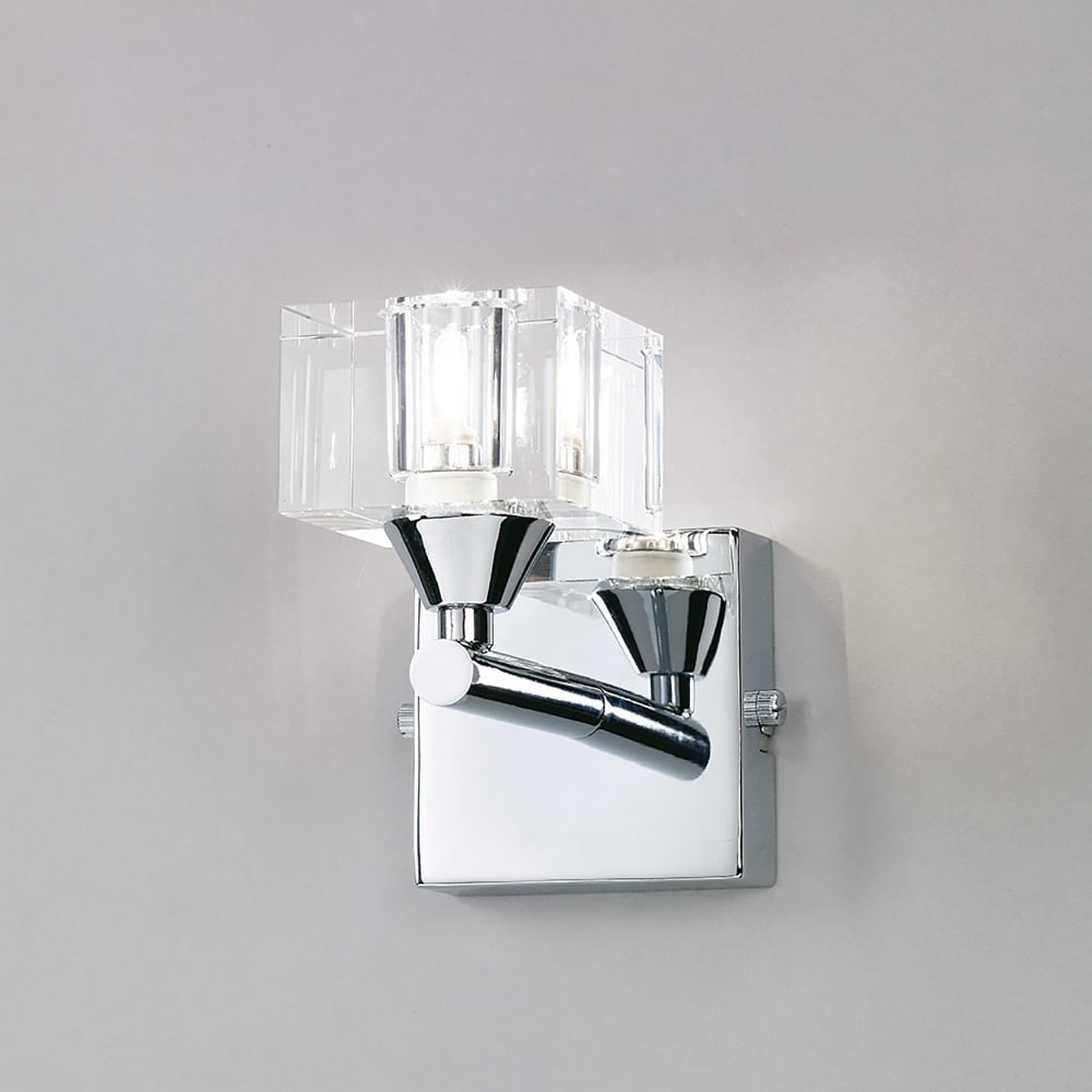 Mantra cuadrax single halogen switched wall light in polished chrome cuadrax single halogen switched wall light in polished chrome finish aloadofball Gallery