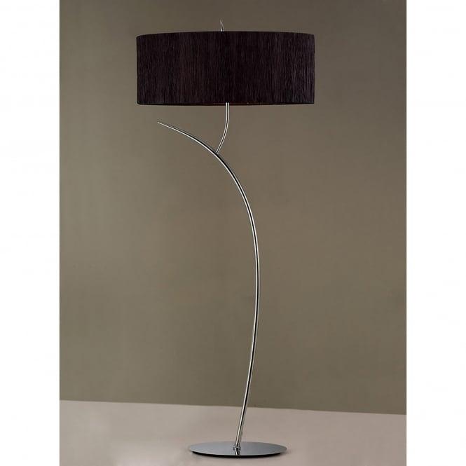 Mantra eve 2 light low energy floor lamp in polished chrome finish eve 2 light low energy floor lamp in polished chrome finish with black shade aloadofball Gallery