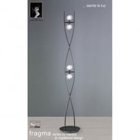 Fragma 4 Light Halogen Floor Lamp In Black Chrome Finish