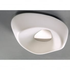 Huevo 5 Light Low Energy Ceiling Fitting in White Finish with Polished Chrome (Outdoor)