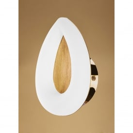 Juno Single LED Wall Light in Satin Gold Finish with Acrylic Diffuser