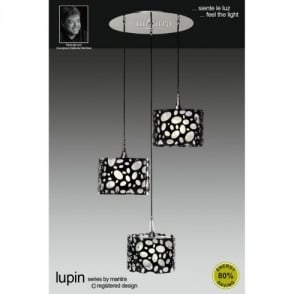 Lupin 3 Light Low Energy Ceiling Fitting in Black and White  sc 1 st  Castlegate Lights & Mantra Lupin 4 Light Low Energy Large Semi-Flush Ceiling Fitting ... azcodes.com