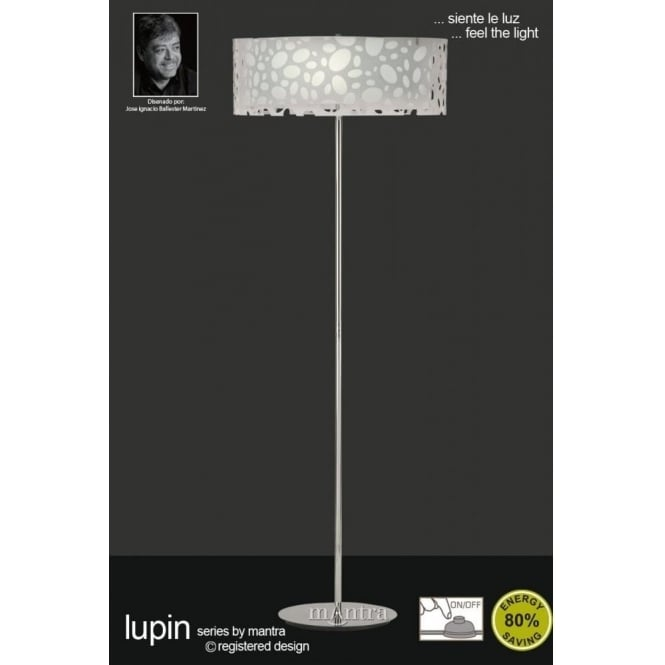 Mantra lupin 4 light low energy floor lamp in white castlegate lights lupin 4 light low energy floor lamp in white mozeypictures Gallery