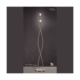 M0054 SN Rosa Del Desierto 2 Light Halogen Floor Lamp In Satin Nickel Finish